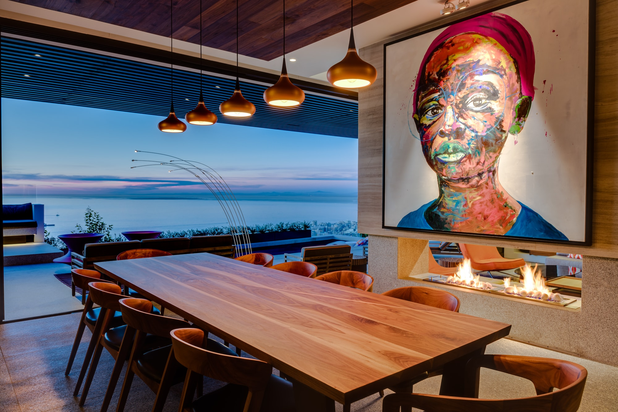 Sealion dining room with view of ocean skyline