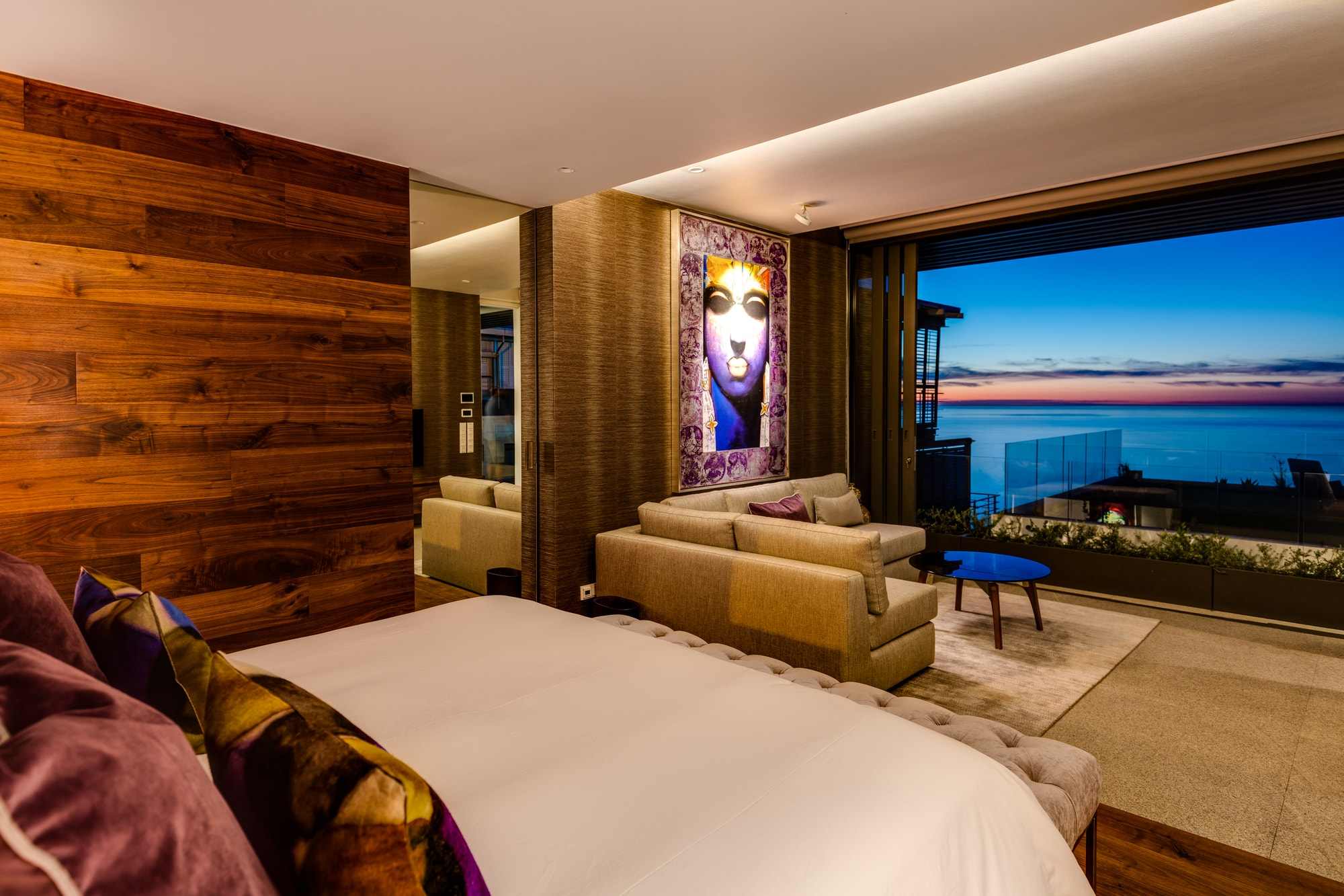 Sealion master bedroom with view of ocean skyline