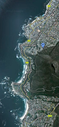 Sealion location on satellite map - Bantry Bay, Fresnaye